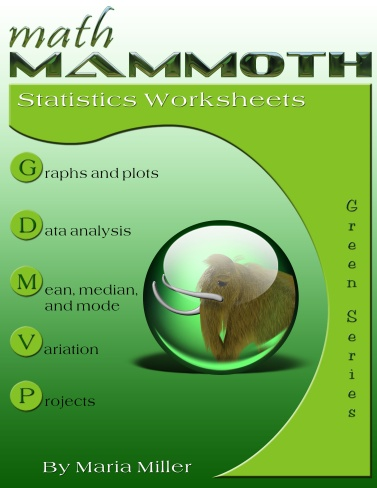 Math Mammoth Statistics Worksheets Collection - fully reproducible - statistics worksheet