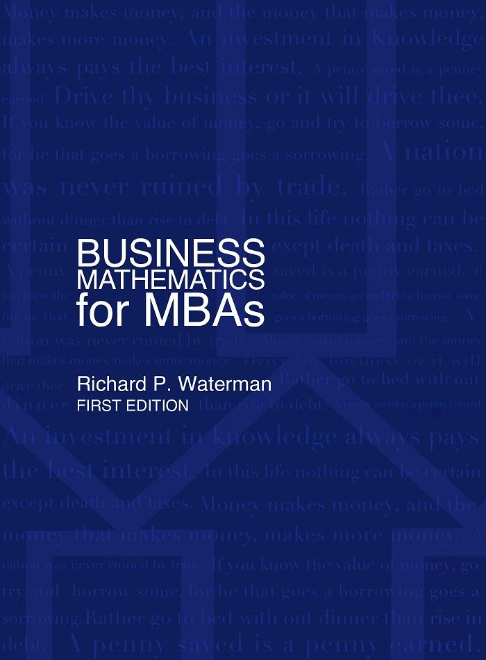 Business Math MBAs Quantitative models Business analytics - business math