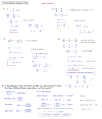 Math Plane - Solving Rational Equations