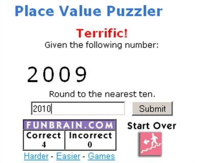 Place Value Puzzler - Funbrain - Maths Zone Cool Learning Games - place value unit