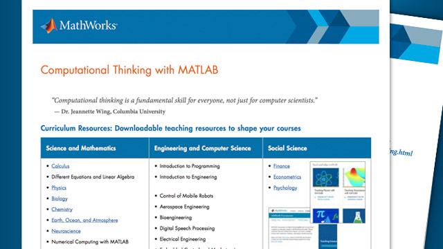 Computational Thinking with MATLAB and Simulink - MATLAB  Simulink