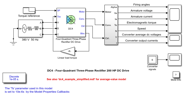 dc motor circuit model