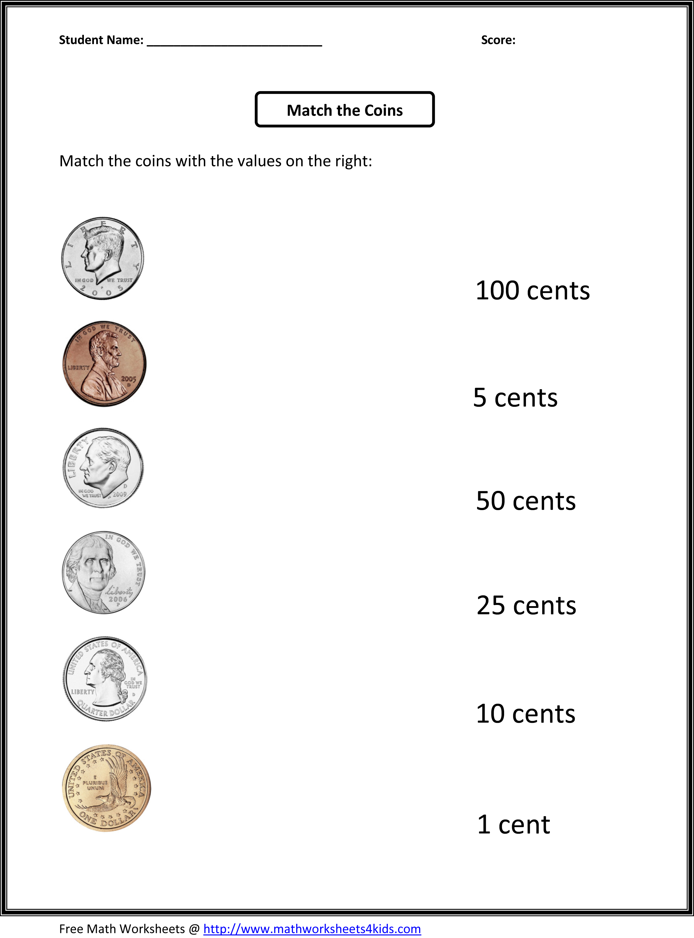 Identify Money algebraic fractions worksheet volume of prisms and – Coin Recognition Worksheets