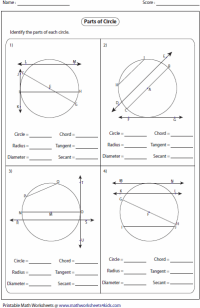 Circles Worksheets
