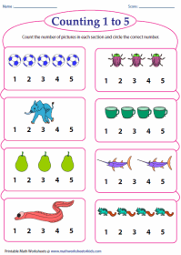 Counting And Writing Numbers 1 20 Worksheet ...