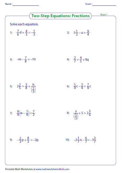 Worksheets Two Step Equations Worksheet With Answers