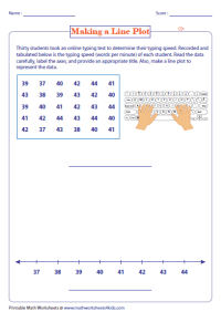 Number Names Worksheets  Line Plot Worksheets With ...