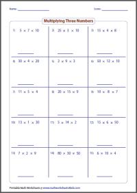 Multiplication Worksheets  Area Model Multiplication ...