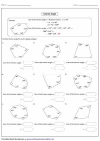 Polygons homework worksheet