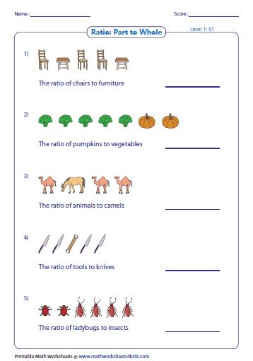 simple ratio worksheets