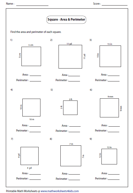 Area Problems Worksheet Free Worksheets Library Download
