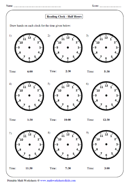 Have Fun Teaching Telling Time Worksheets - 118 free telling time ...