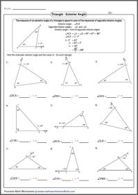 Triangle Interior Angles Worksheet. triangle sum theorem ...