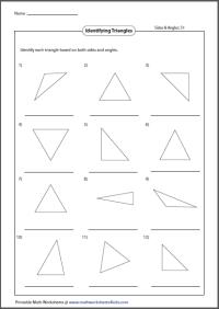 Identifying Angles Worksheet Identifying Triangles Worksheet