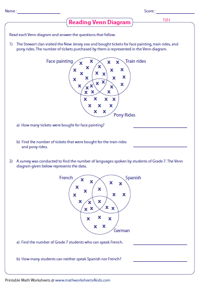 venn diagram logic problems worksheets