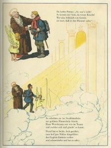 Hans Wundersam trifft Petrus im Himmel