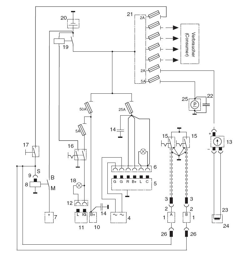 schematic alternator regulator