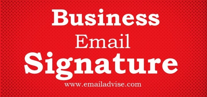 How to write footer Email Signature for Business mails?