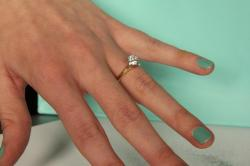 Small Of Engagement Ring Hand