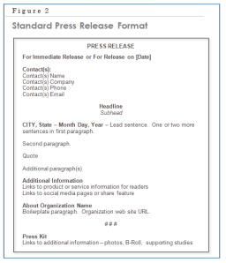 press release example format
