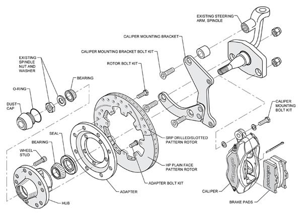 chevy brake parts diagram