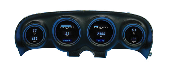69-70 Mustang Dakota Digital Dash Cluster VFD3-69M