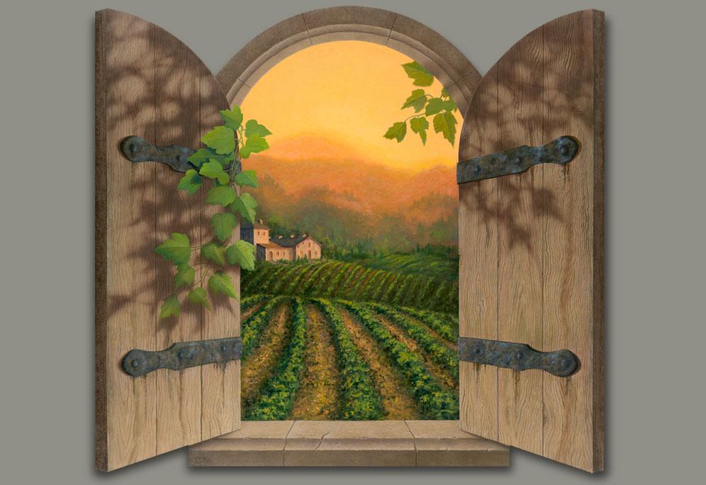 Wallpaper Scenes Of Fall Tuscan Sun By David Miller