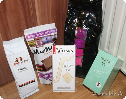 Produkte aus dem Kaffi Shop