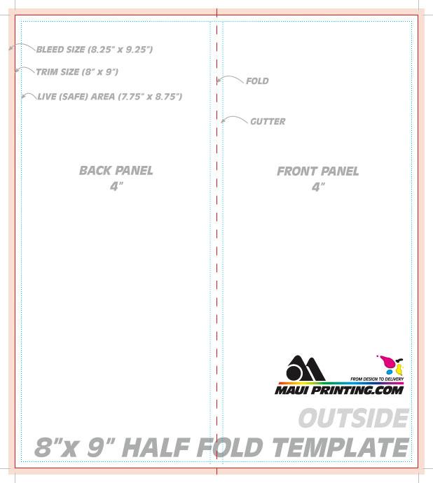 Maui Printing Company Inc 8 x 9 Brochure Template