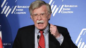 Former U.S. ambassador to the U.N. John Bolton speaks at the Republican Jewish Coalition Saturday, March 29, 2014, in Las Vegas. (AP Photo/Julie Jacobson)