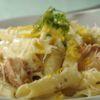 Penne ao limone com Salmão Brie Restô Chef: Eliane Carvalho