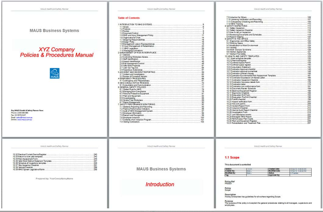 Sample Policy Manual Template Sample It Manual Template 6 Free - software manual template