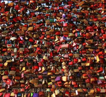 Love locks of Cologne