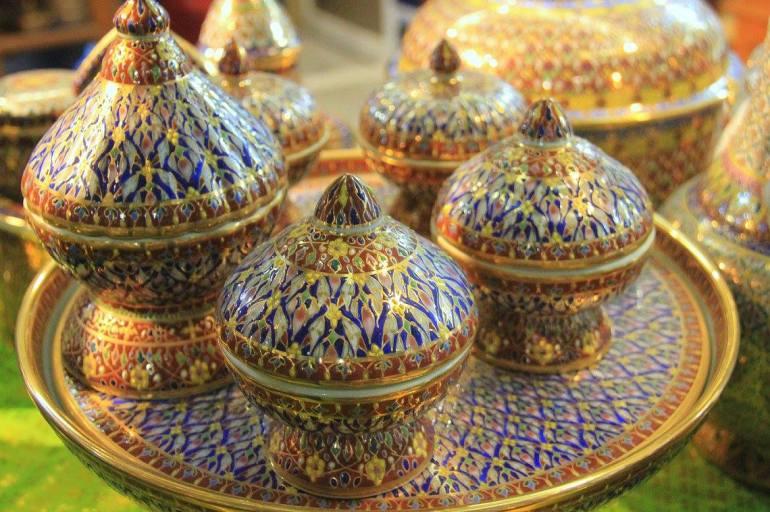 Pretty porcelain of Benjarong