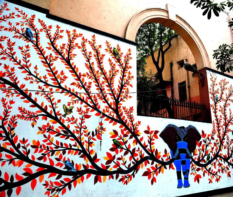 #ayandralidutta #travelbloggerindia #travelblogindia #streetartdelhi