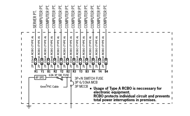 mcb and rccb wiring diagram