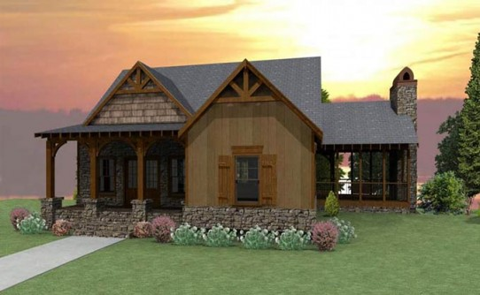 Rustic Cottage House Plans By Max Fulbright Designs