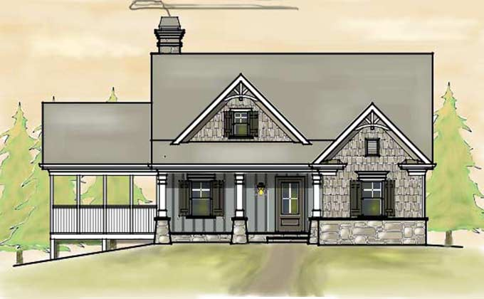 small 2 story 3 bedroom southern cottage style house plan