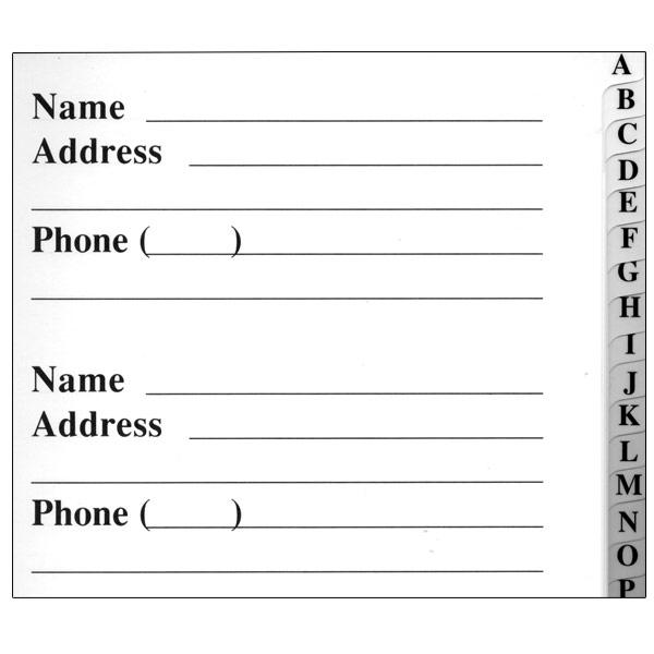 large print phone book - Klisethegreaterchurch - business address book template