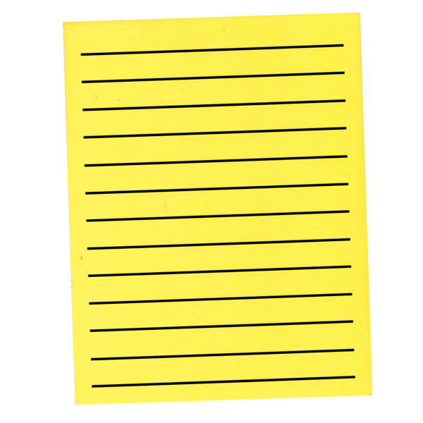 MaxiAids Bold Line Paper Pad in Neon Yellow with Black Lines - 90 - paper lined