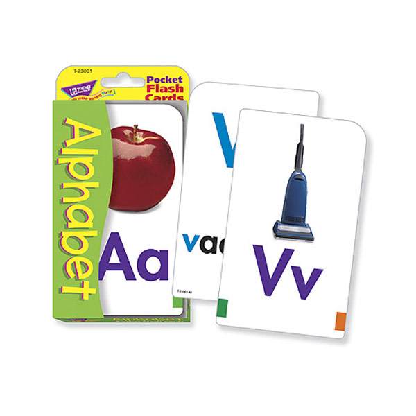 MaxiAids Low Vision Alphabet Pocket Flash Cards