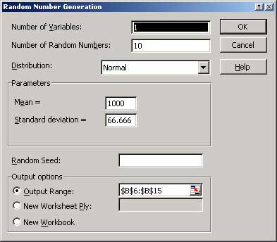 Excel random number generator with parameters RAND function - 2019