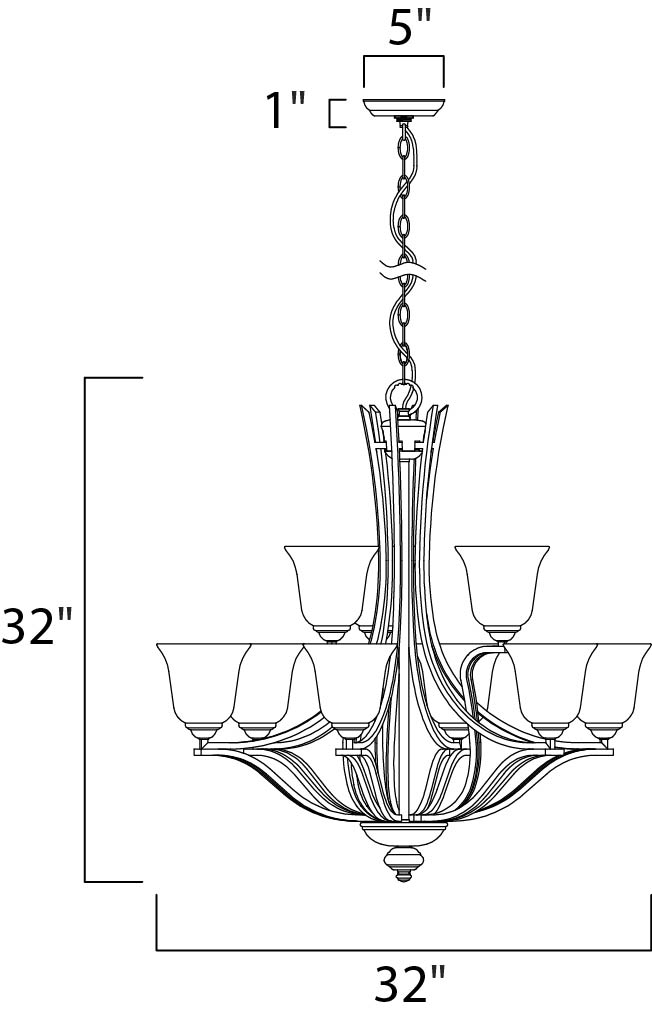 chandelier canopy diagram