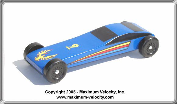Sports Car Pinewood Derby Kit Maximum Velocity