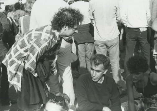 Jeff and Tim at Eastern Front, Berkeley 1981 (photo by Erik Meade)