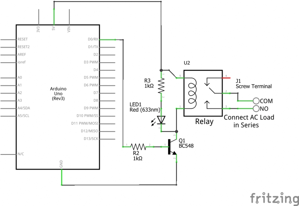 breadboard circuit diagram