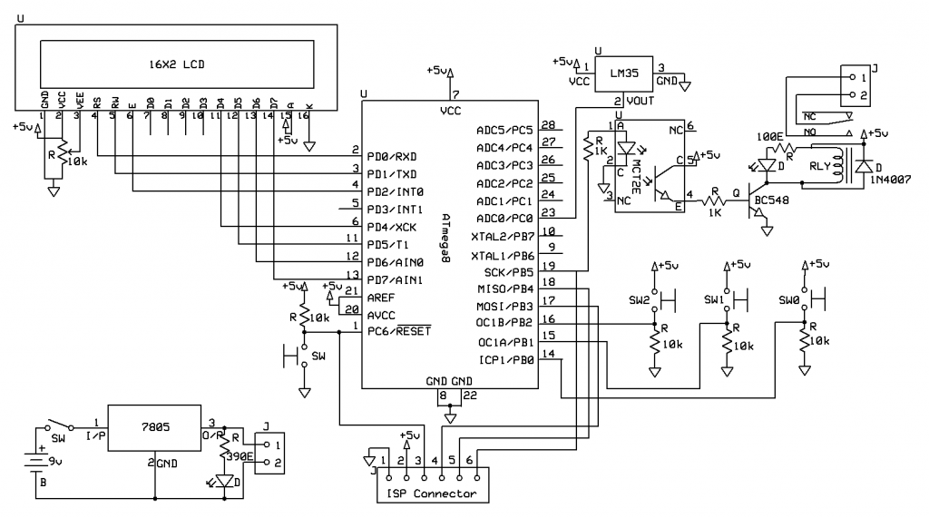 temperature controlled fan circuit