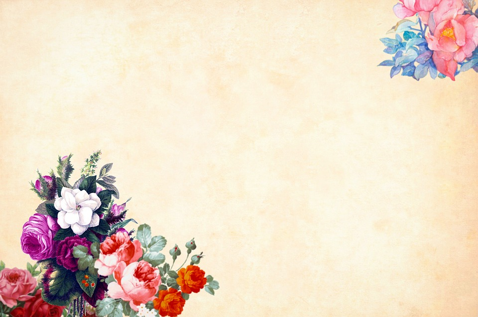 Free Wallpaper Fall Flowers Free Photo Background Border Floral Watercolor Flower