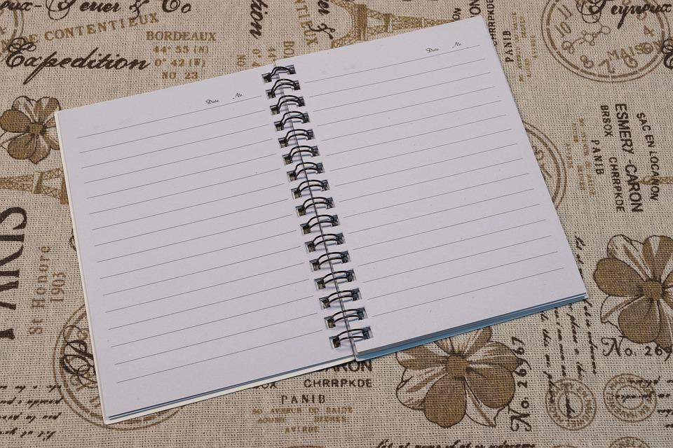 Free photo Blank Page Notes Open Notebook Diary Notebook Page - Max - blank diary page