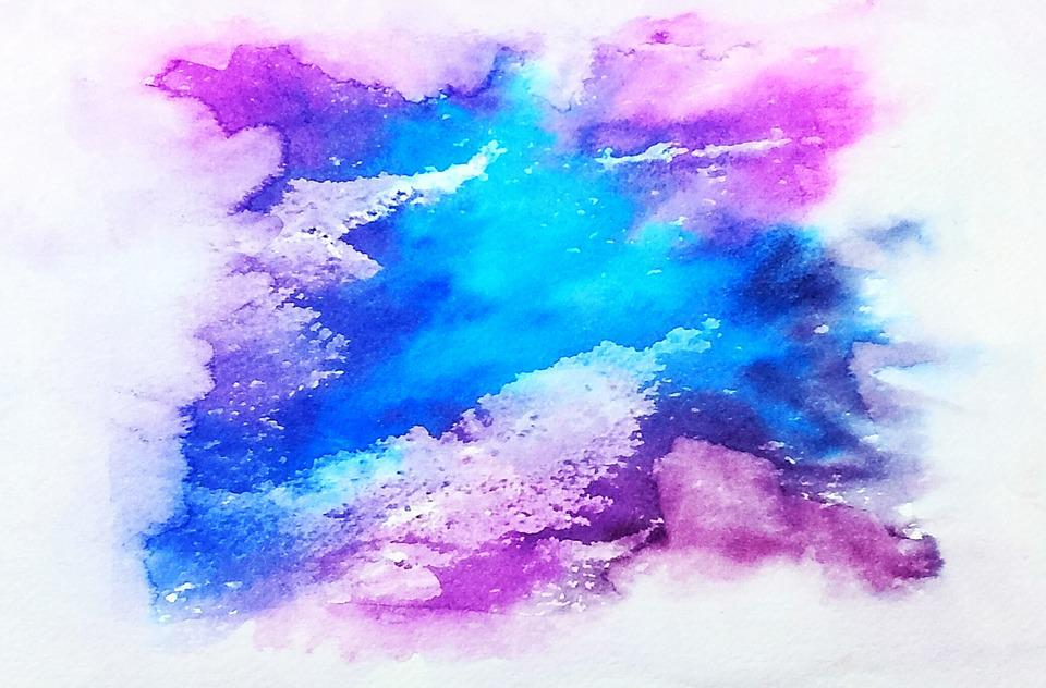 Free photo Blue Galaxy Texture Purple Watercolor Splatter - Max Pixel